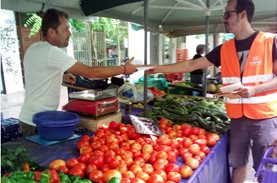 Expressing our thanks at the Farmers' Markets