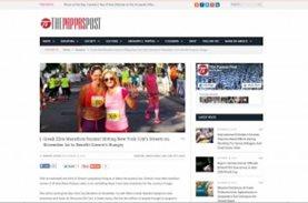 Αναφορά στη συνεργασία Μarathon Team Greece by Maria Polyzou και ΜΠΟΡΟΥΜΕ στο The Pappas Post